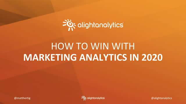 How To Win With Marketing Analytics In 2020