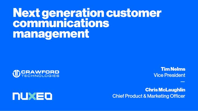 Next-Generation Customer Communications Management