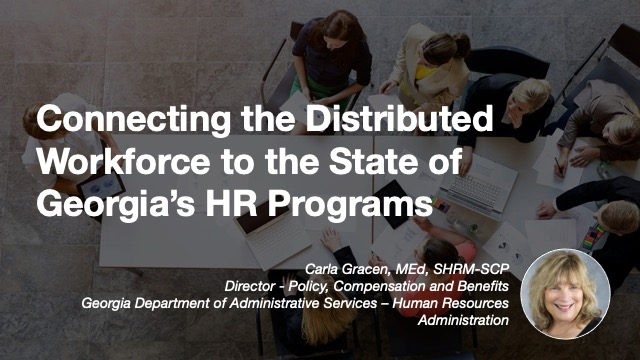 Connecting the Distributed Workforce to the State of Georgia's HR Programs