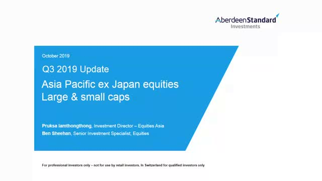 Asia Pacific ex Japan Equities Q3 2019 update