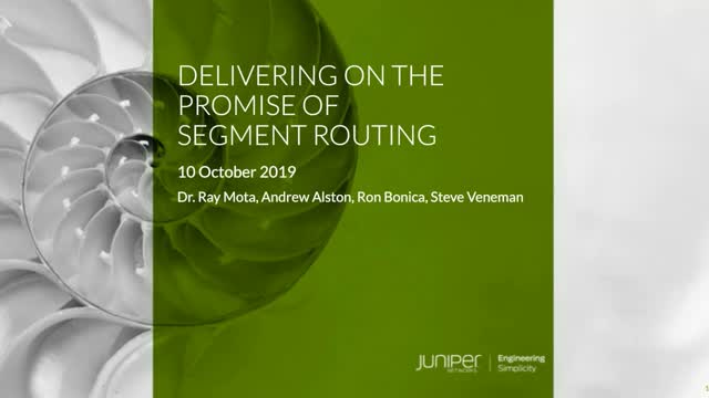 Delivering on the Promise of Segment Routing