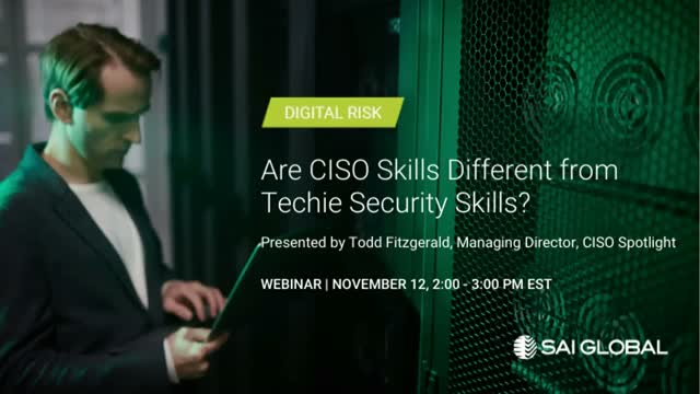 Are CISO Skills Different from Techie Security Skills?