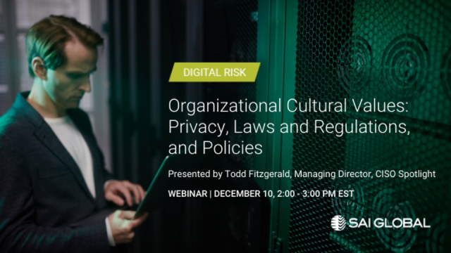 Organizational Cultural Values: Privacy, Laws and Regulations, and Policies