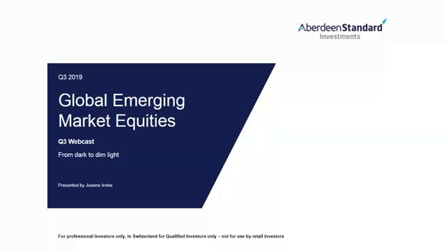 Global Emerging Market Equities Q3 2019 Update