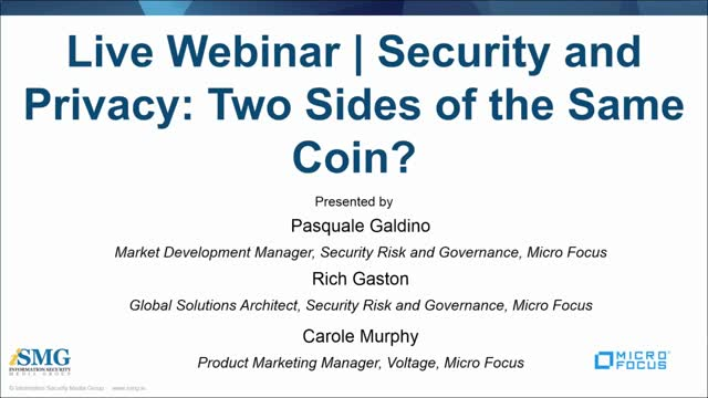 Security and Privacy: Two Sides of the Same Coin?