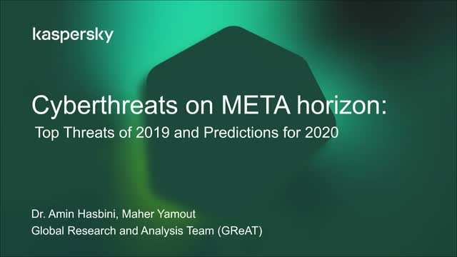 Cyberthreats on META horizon: Top Threats of 2019 and Predictions for 2020