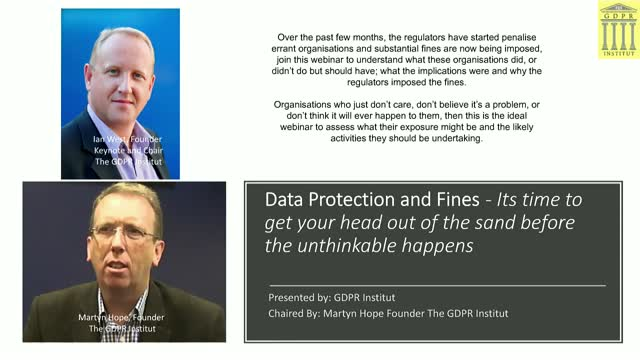Data Protection and Fines-Its time to get your head out the sand