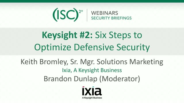 Keysight #2 - Six Steps to Optimize Defensive Security