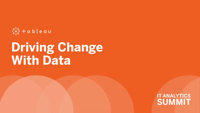 Driving change with data
