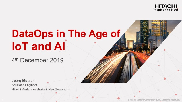 DataOps in The Age of IoT and AI