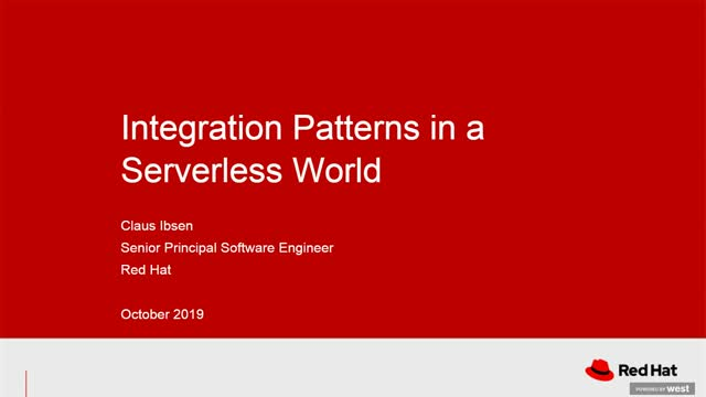 Integration patterns in a serverless world