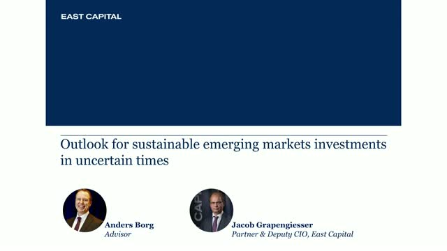 Outlook for sustainable emerging markets investments in uncertain times