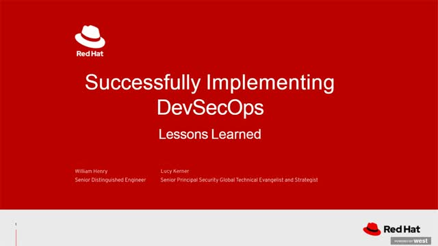 Implementing DevSecOps: Lessons learned