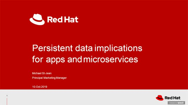Persistent data implications for apps and microservices