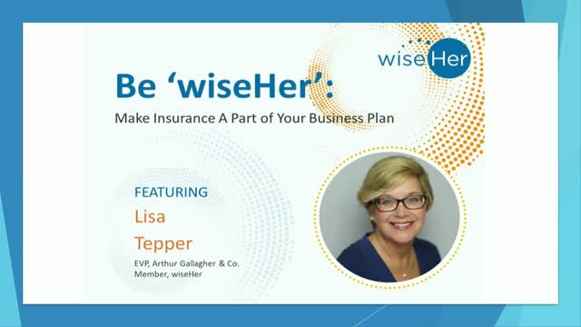 Make Insurance a Part of Your Business Plan: Be 'wiseHer':