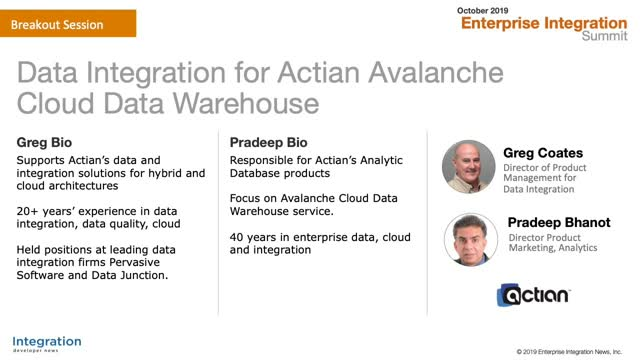 Avalanche and Data Integration
