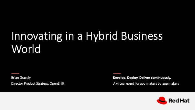 Keynote: Innovating in a Hybrid Business World