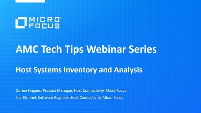 Tech Tips: Host Systems Inventory and Analysis