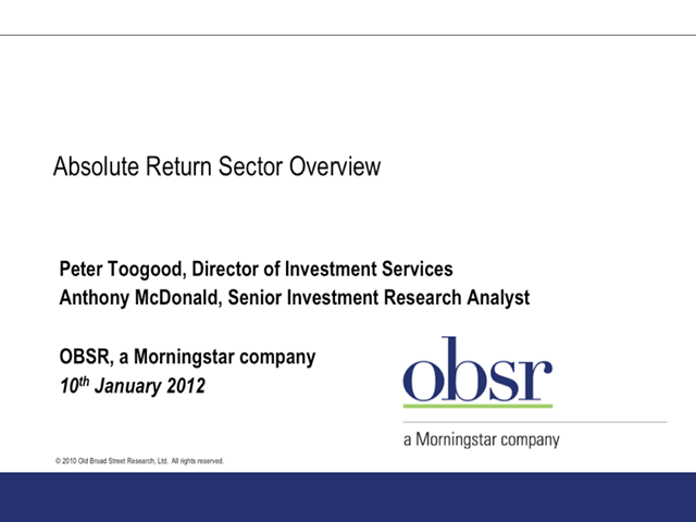 Absolute Return - OBSR Sector Review