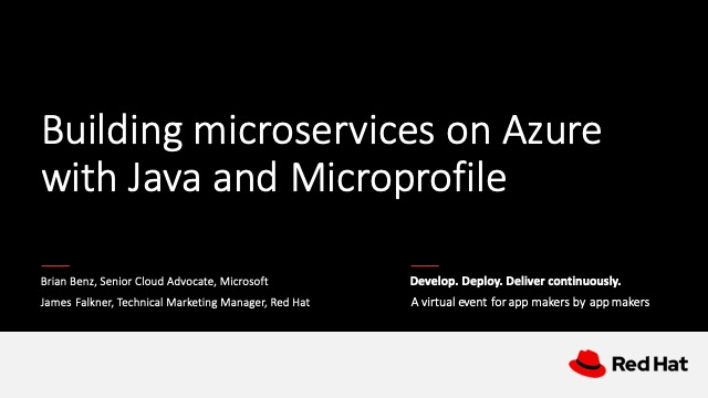 Building microservices on Azure with Java and Microprofile