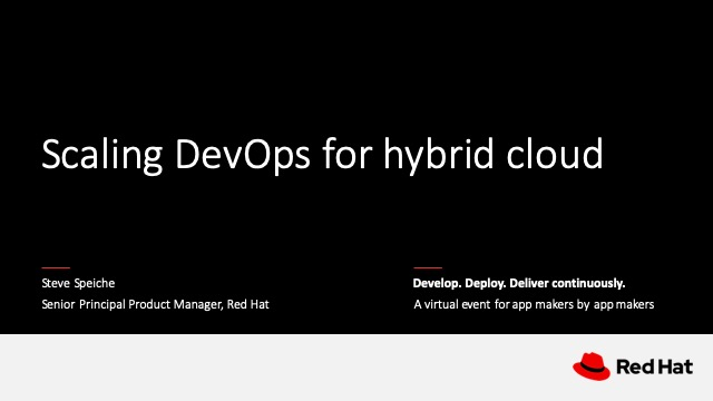 Scaling DevOps for hybrid cloud