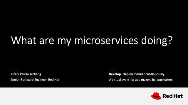 What are my microservices doing?