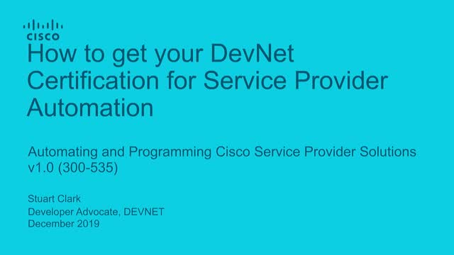 How to get your DevNet Certification for Service Provider Automation