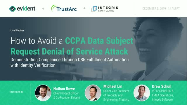How to Avoid a CCPA Data Subject Request Denial of Service Attack