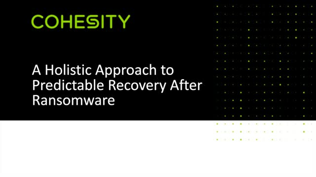 A Holistic Approach to Predictable Recovery After a Ransomware Attack
