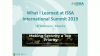 What I learned at The 2019 ISSA International Summit