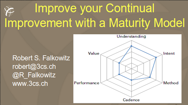 Improve your continual improvement with a maturity model