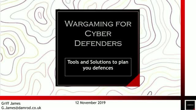 Wargaming for Cyber Defenders