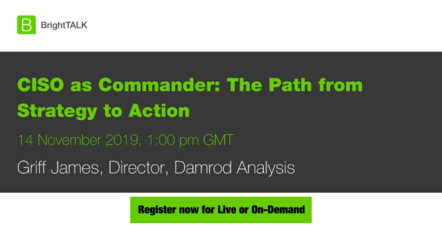 CISO as Commander: The Path from Strategy to Action.