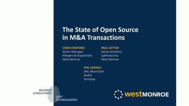 The State of Open Source in M&A Transactions
