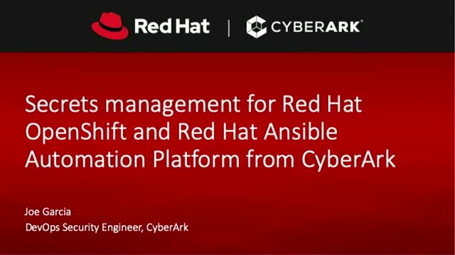 Secrets management for Red Hat OpenShift and Red Hat Ansible Automation Platform