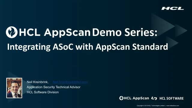 HCL AppScan Demo Series (Part 2): Integrating ASoC with AppScan Standard