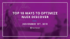 Top 10 Ways to Optimize Nuix Discover