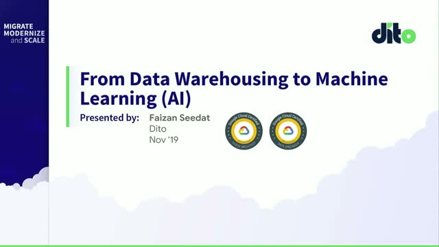 From Data Warehousing to Machine Learning (AI)