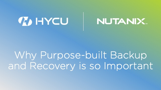 Why Purpose-built Backup and Recovery is so Important