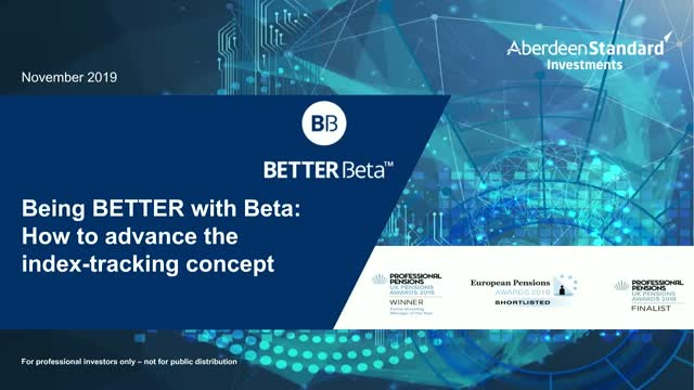 Being BETTER with Beta: How to advance the index-tracking concept
