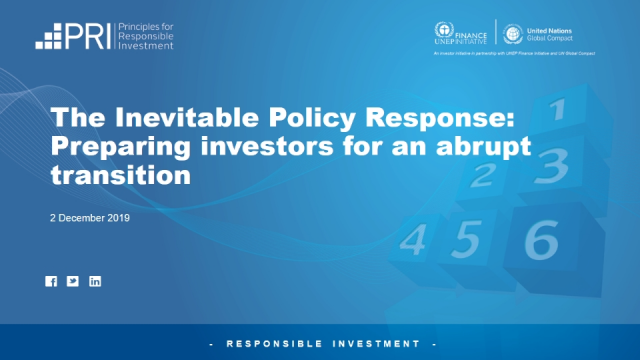 The Inevitable Policy Response: Preparing investors for an abrupt transition
