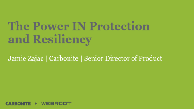 The Power IN Protection and Resiliency