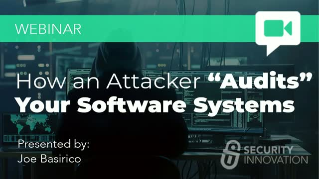 "How an Attacker ""Audits"" Your Software Applications"