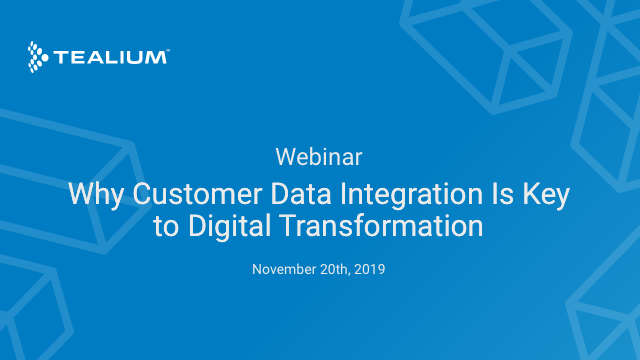 Why Customer Data Integration Is Key to Successful Digital Transformation
