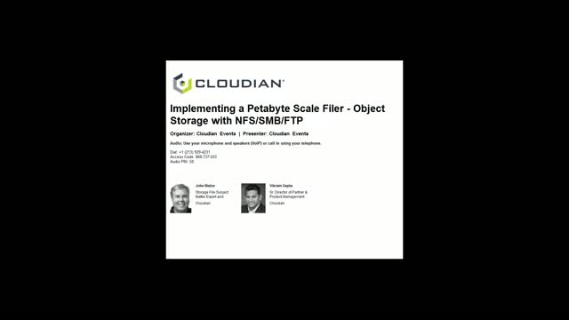 Implementing a Petabyte Scale Filer – Object Storage with NFS/SMB/FTP