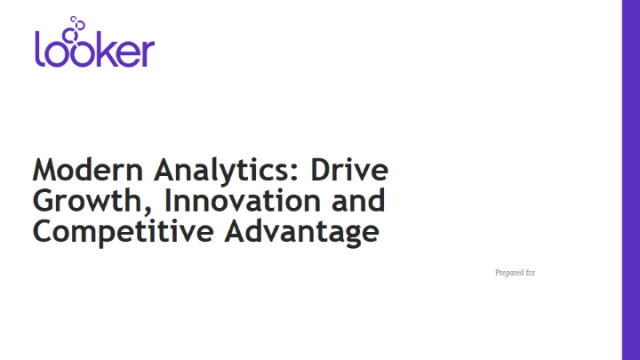 Modern Analytics: Drive Growth, Innovation and Competitive Advantage