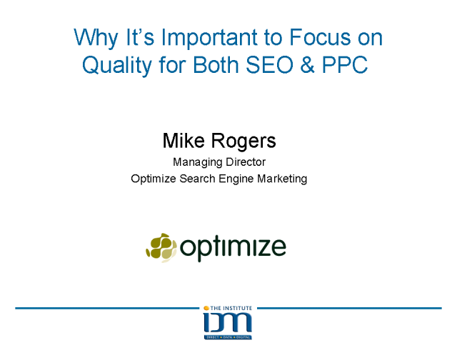 Why It's Important to Focus on Quality for Both SEO & PPC