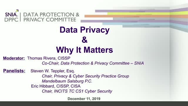 Data Privacy & Why it Matters