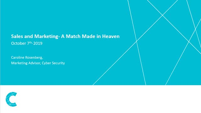 Sales and Marketing- A Match Made in Heaven