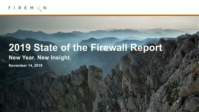2019 State of the Firewall